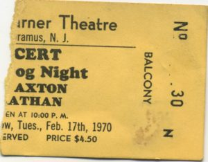 Three Dog Night concert ticket